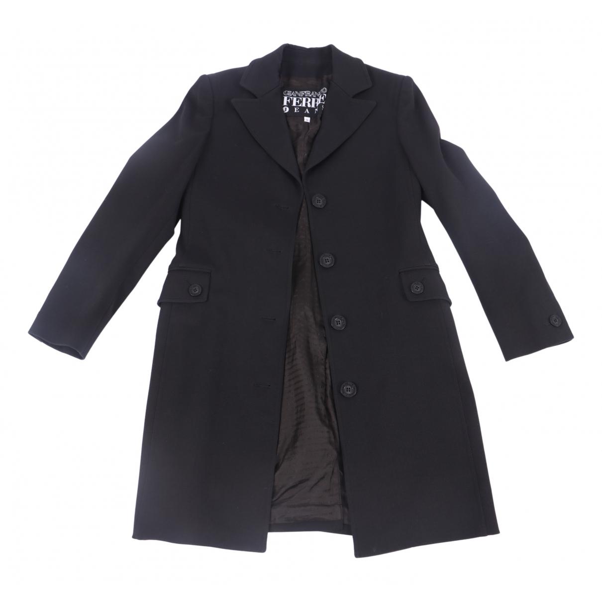 Gianfranco Ferre - Manteau   pour femme en coton - noir