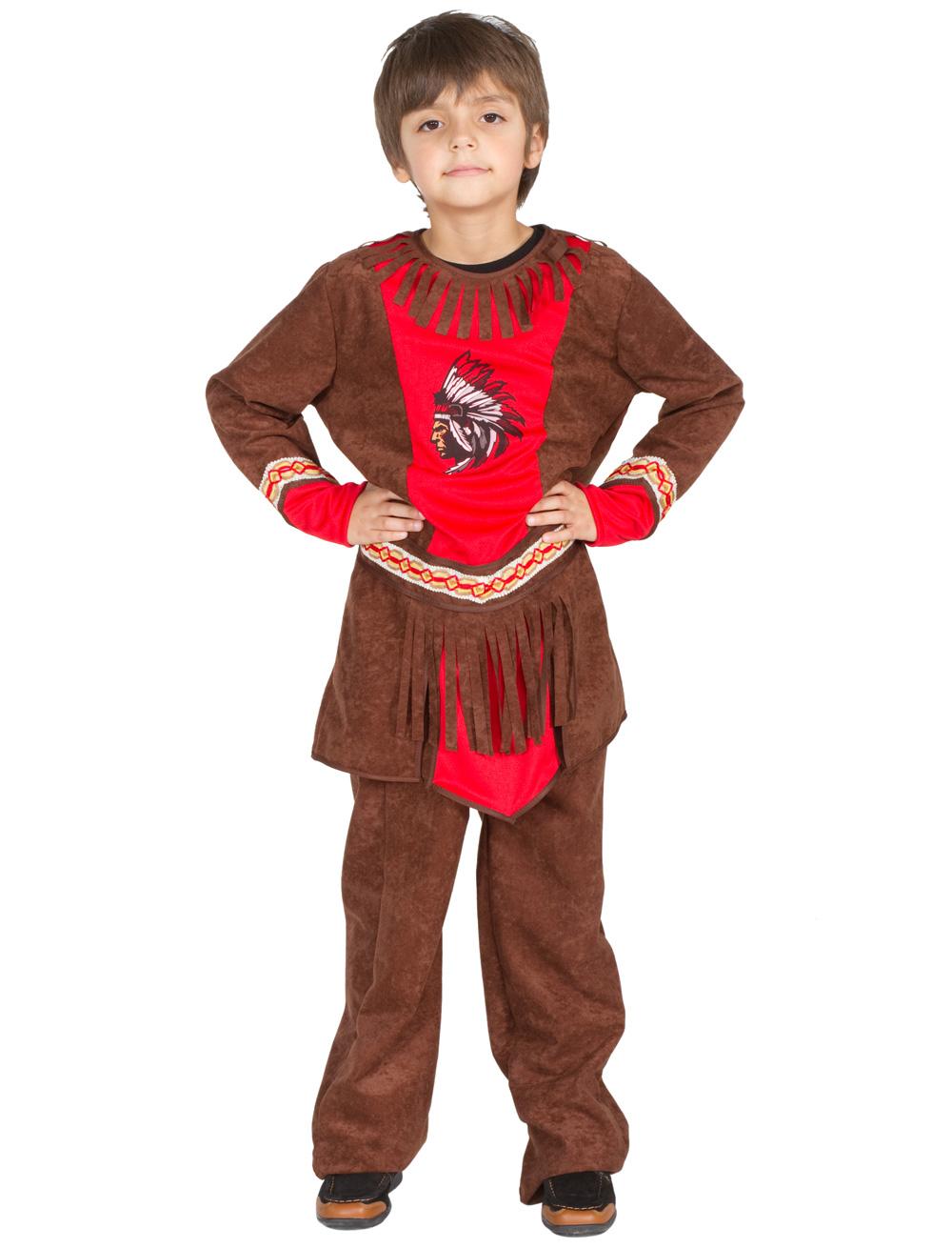 Indianer Junge rot/braun