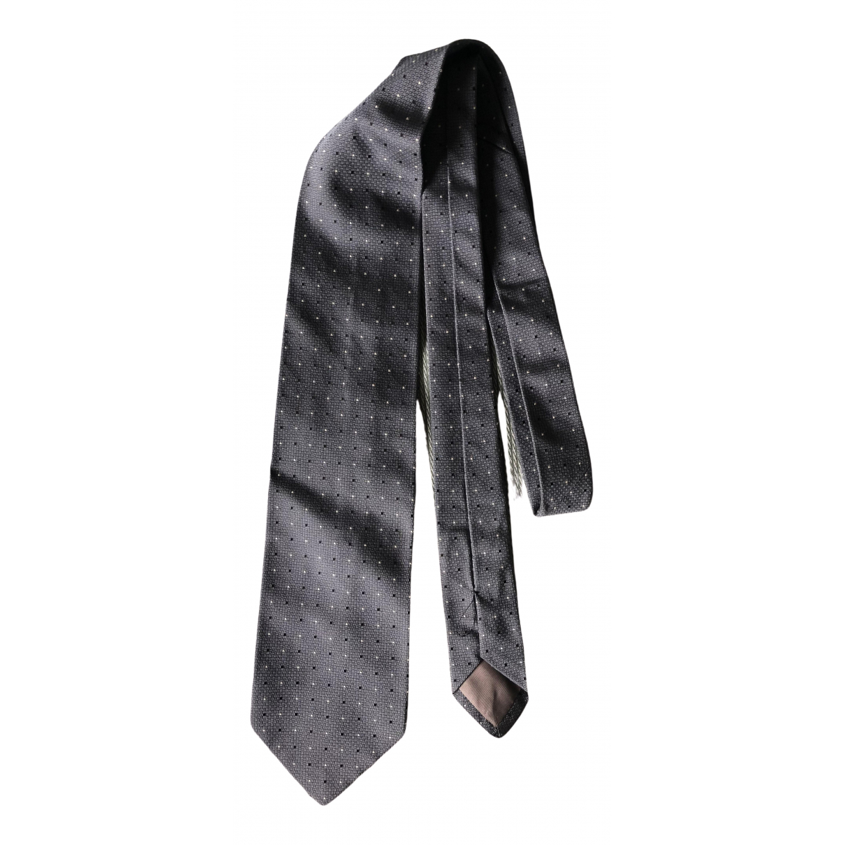 Giorgio Armani N Grey Silk Ties for Men N