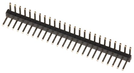 RS PRO , 25 Way, 1 Row, Right Angle Pin Header (19)
