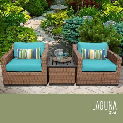 LAGUNA-03a-ARUBA Laguna 3 Piece Outdoor Wicker Patio Furniture Set 03a with 2 Covers: Wheat and