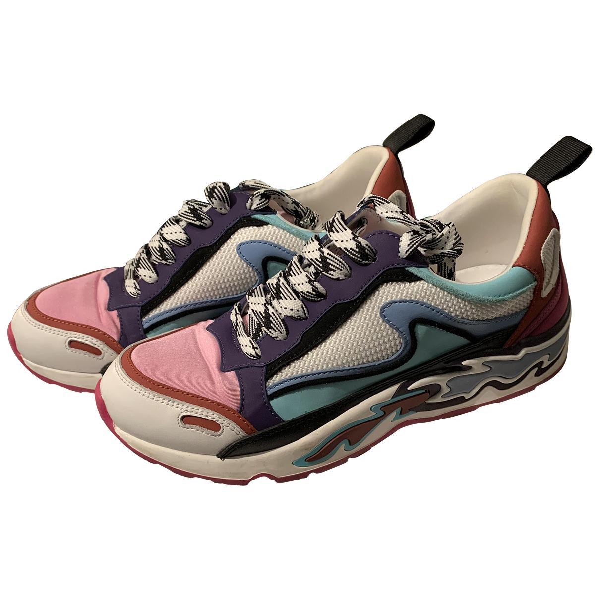 Sandro - Baskets   pour femme en cuir - rose