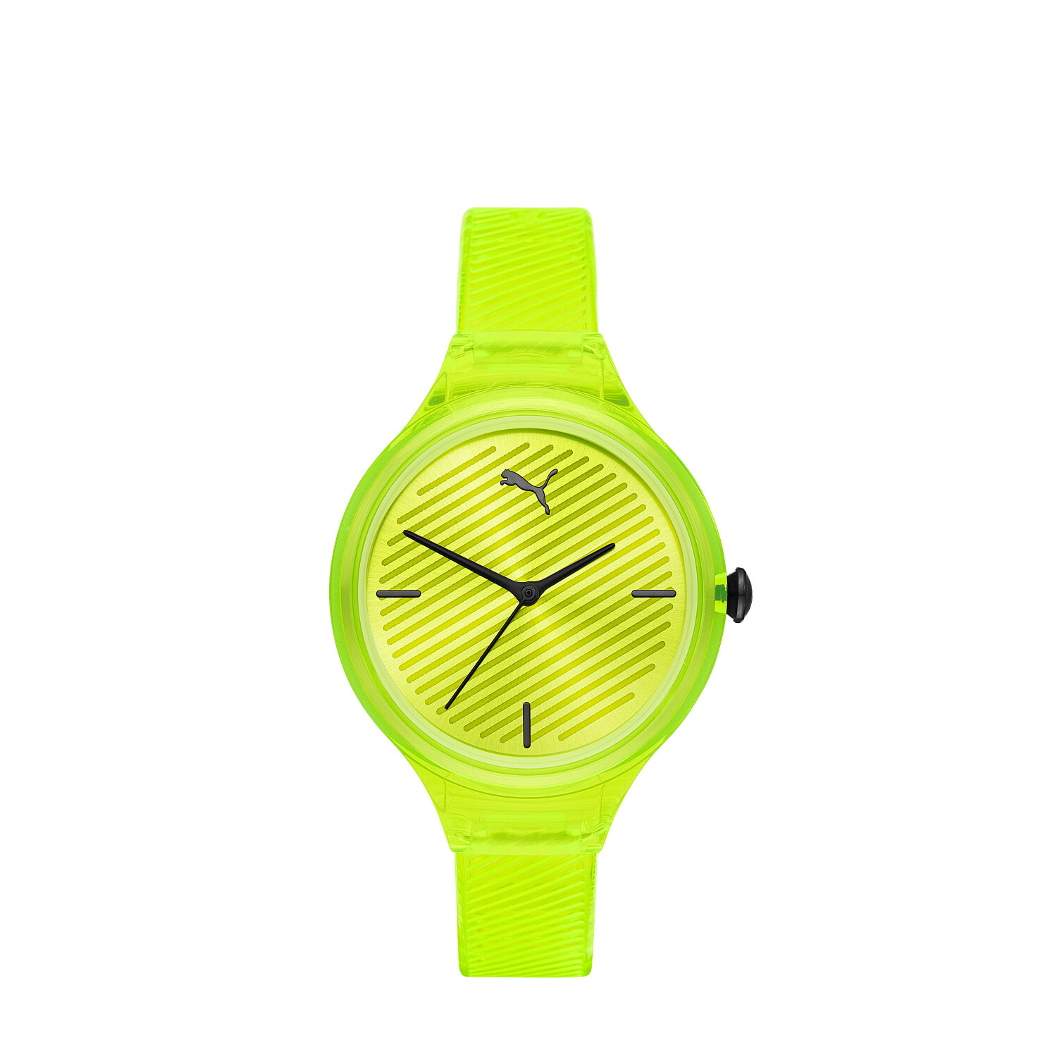 Puma Womens Contour P1017 Yellow Polyurethane Quartz Fashion Watch