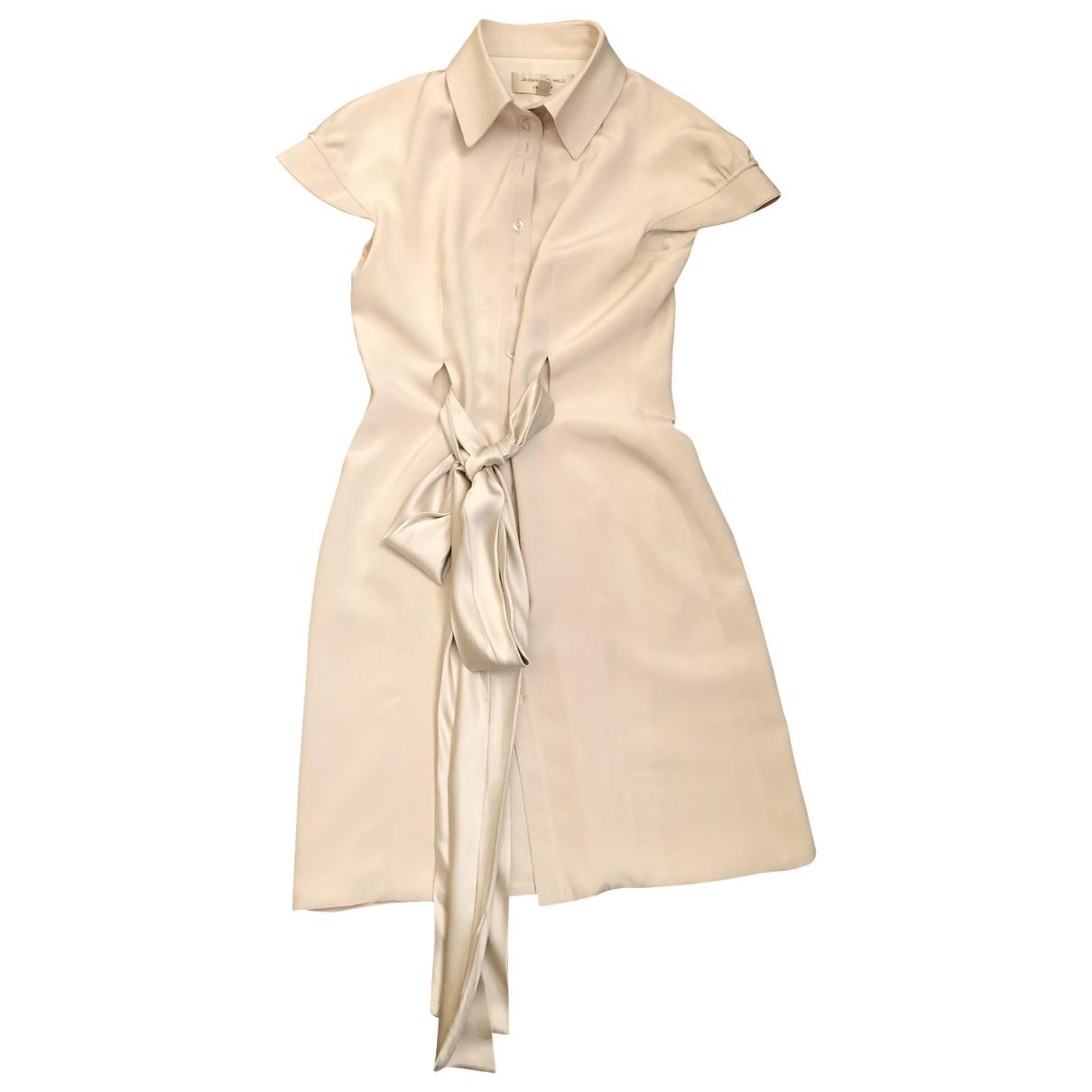 Jasmine Di Milo \N Kleid in  Weiss Seide