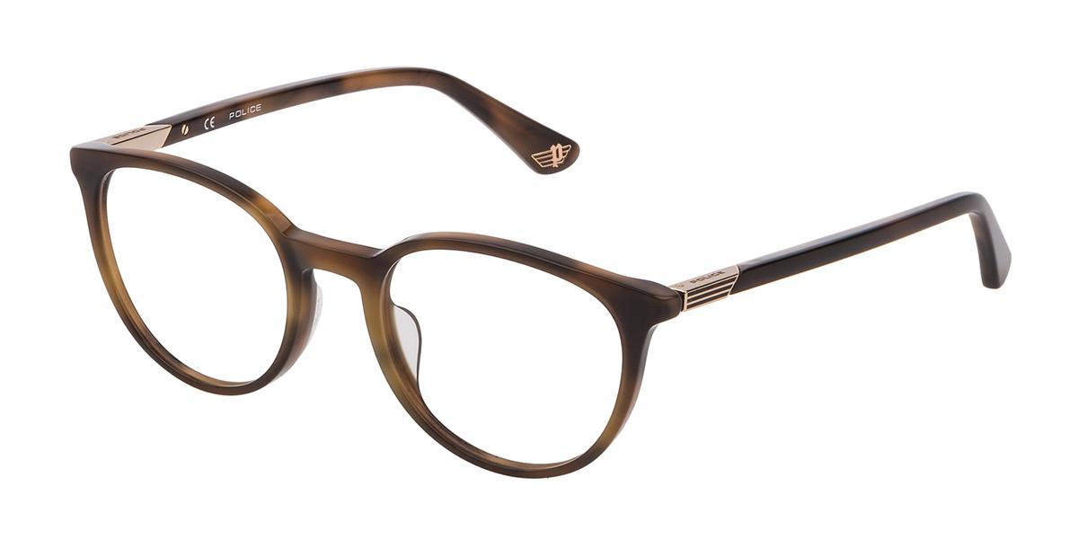 Police VPL883 AXIOM 1 0743 Men's Glasses Tortoise Size 51 - Free Lenses - HSA/FSA Insurance - Blue Light Block Available