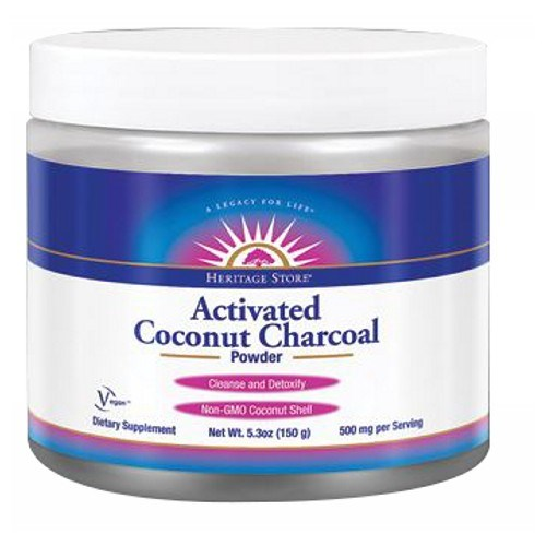 Activated Coconut Charcoal 150 Grams by Heritage Store