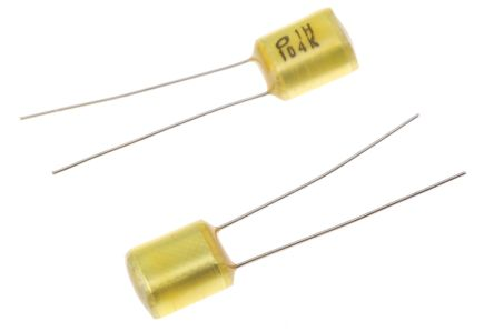 Nichicon 100nF Polyester Capacitor PET 50V dc ±10%, Radial (25)