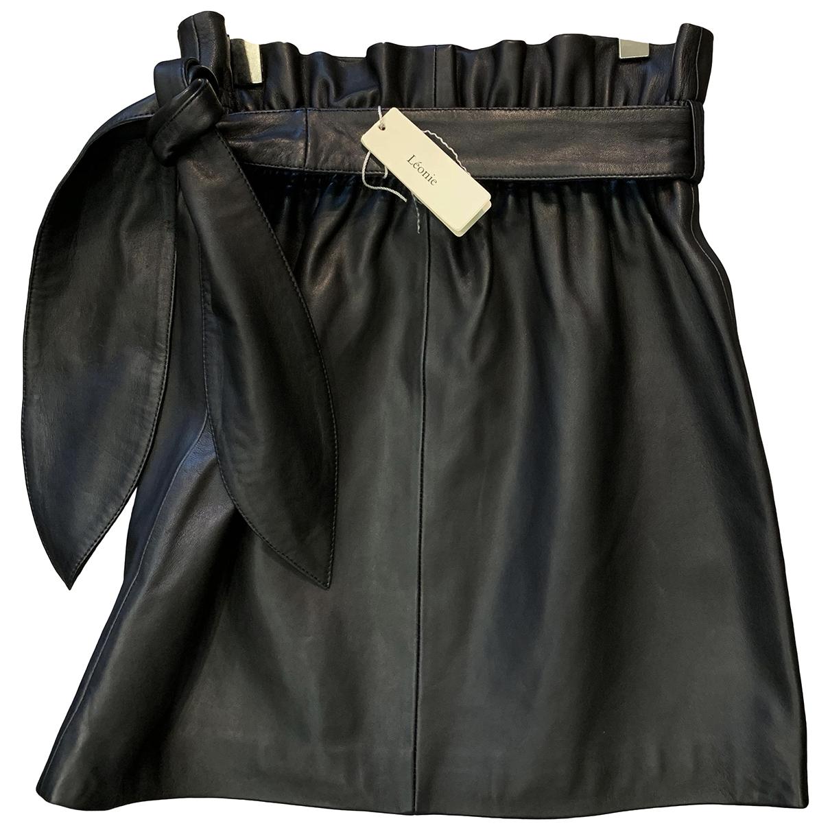 Mini falda de Cuero Hotel Particulier