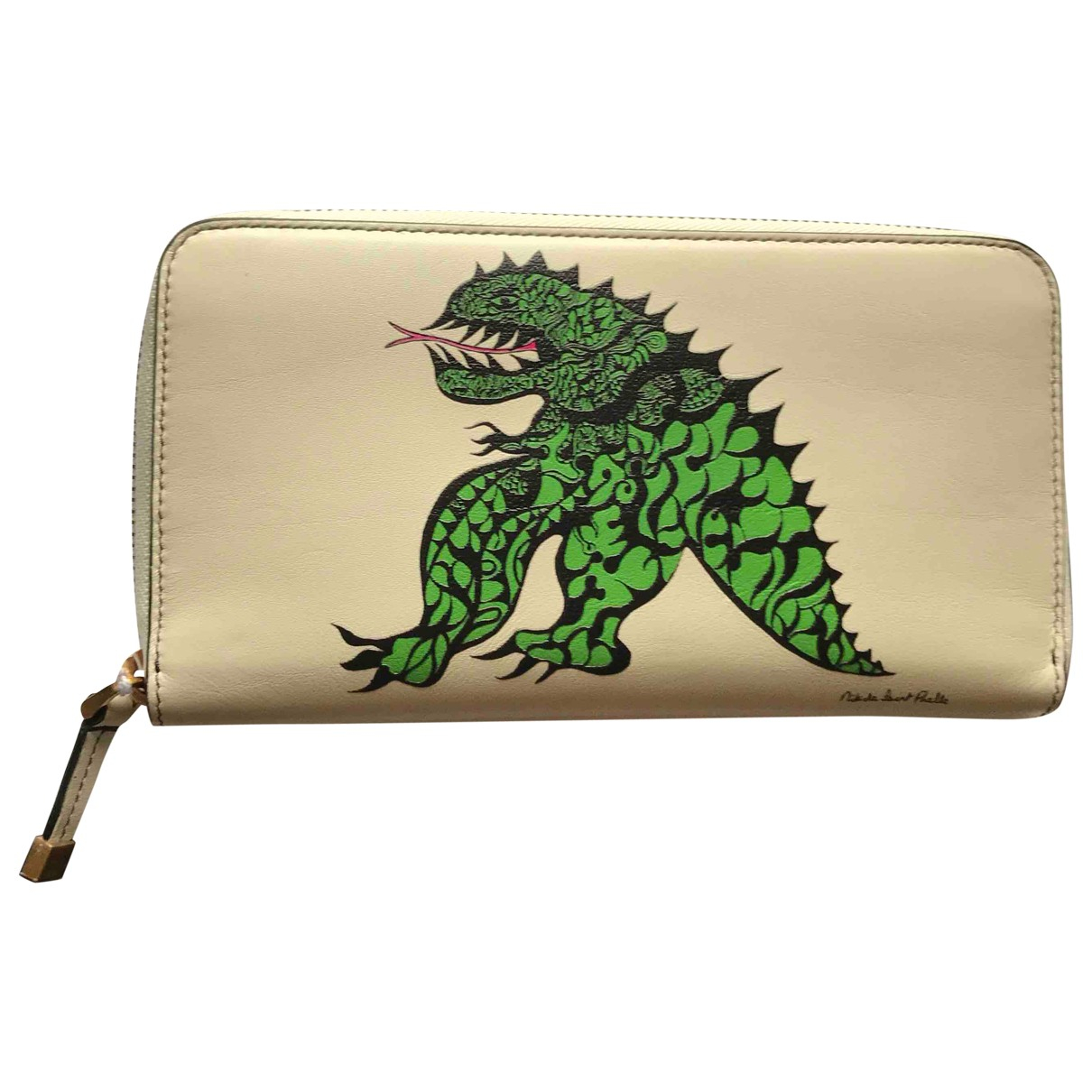 Dior \N Ecru Leather wallet for Women \N