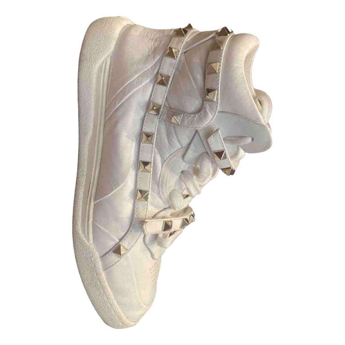Valentino Garavani N White Leather Trainers for Women 35 EU