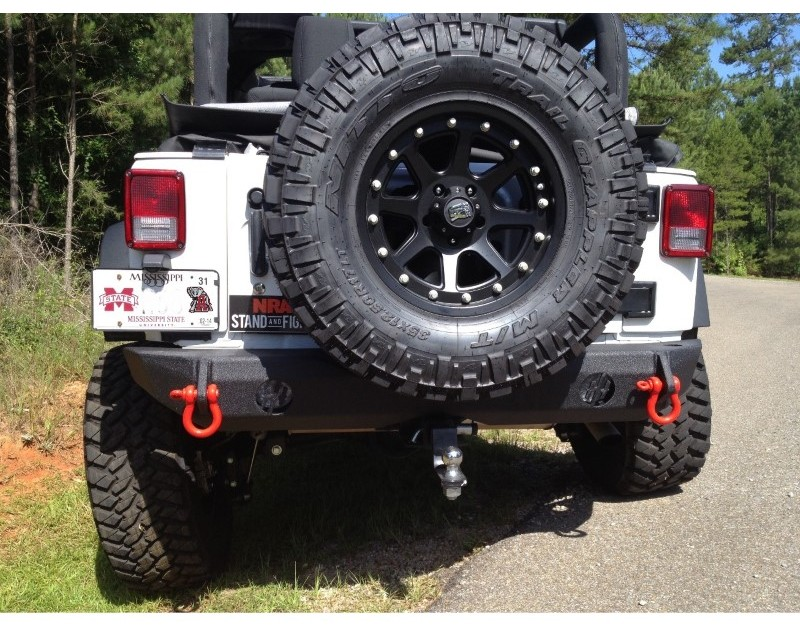 Hammerhead Armor 600-56-0207 Jeep JK Rear Bumper For 07-18 Wrangler JK Black