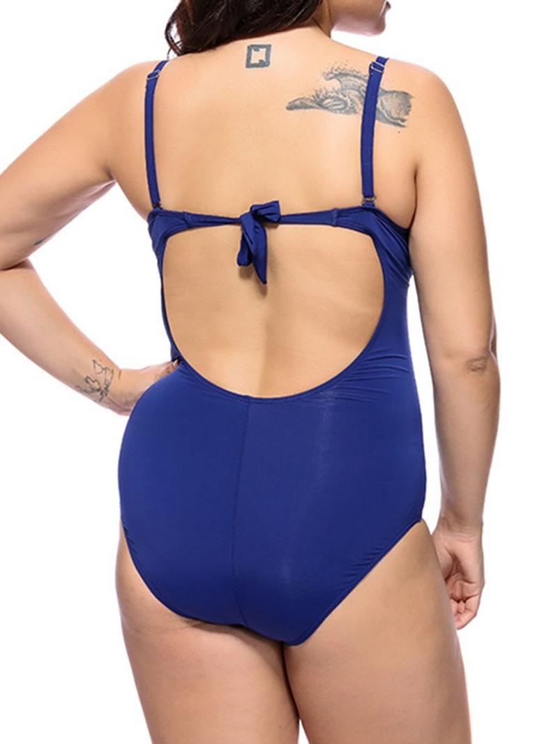 Ericdress Diamond Plain Pleated Swimwear