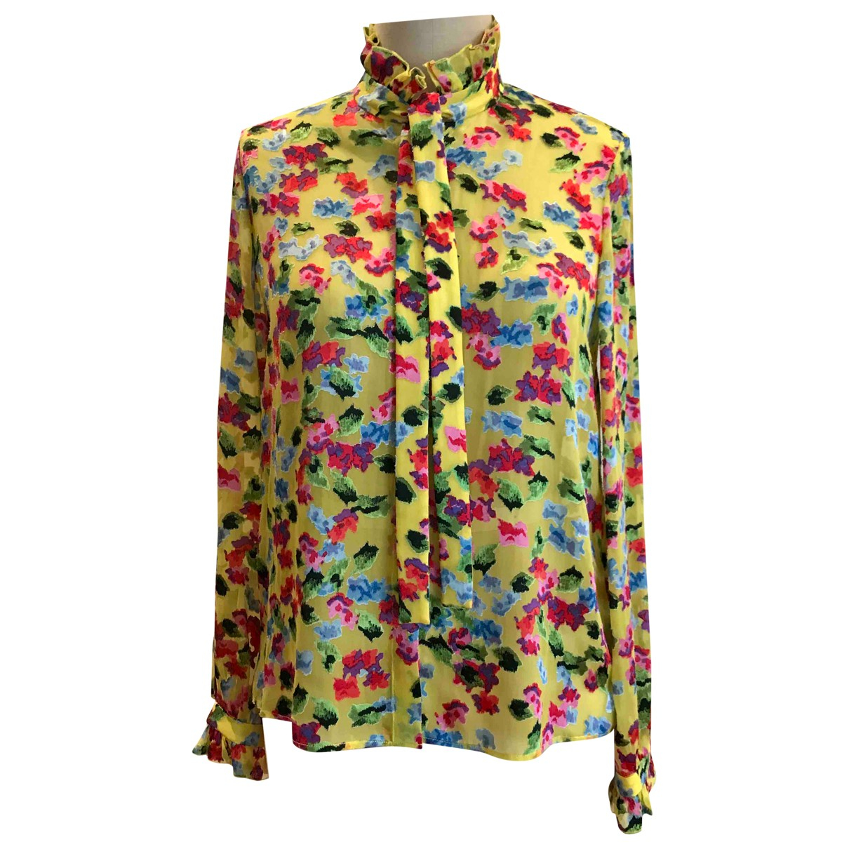 Saloni - Top   pour femme en soie - jaune