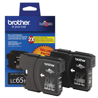 Brother MFC-6490CW Original Black Ink Cartridge, Twin Pack - High Yield