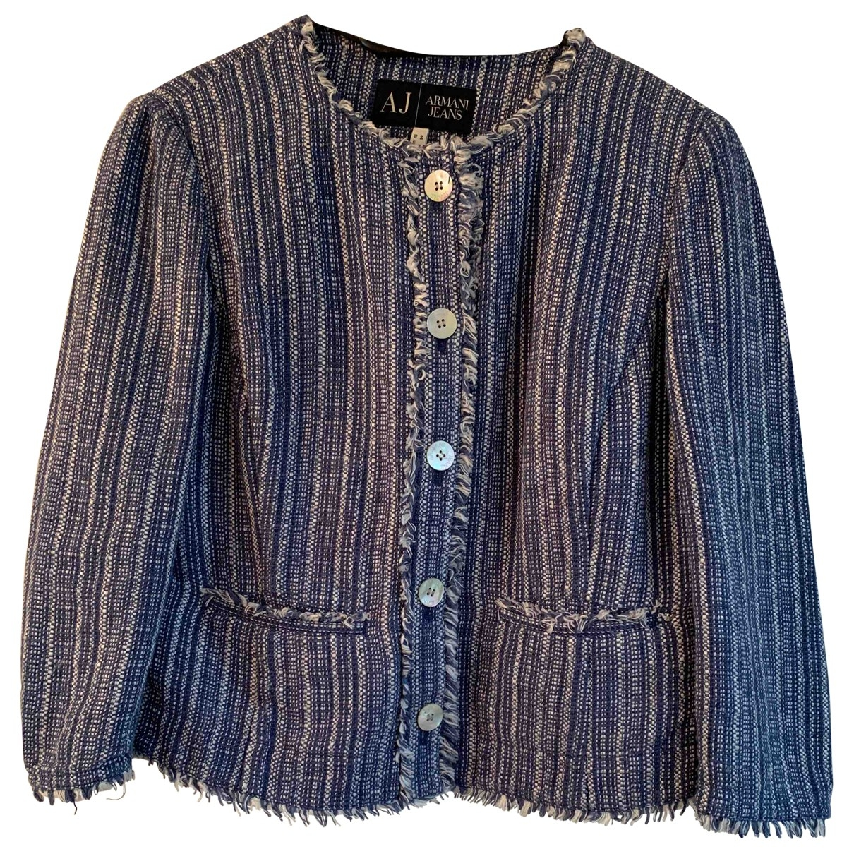 Armani Jean - Veste   pour femme en coton - bleu