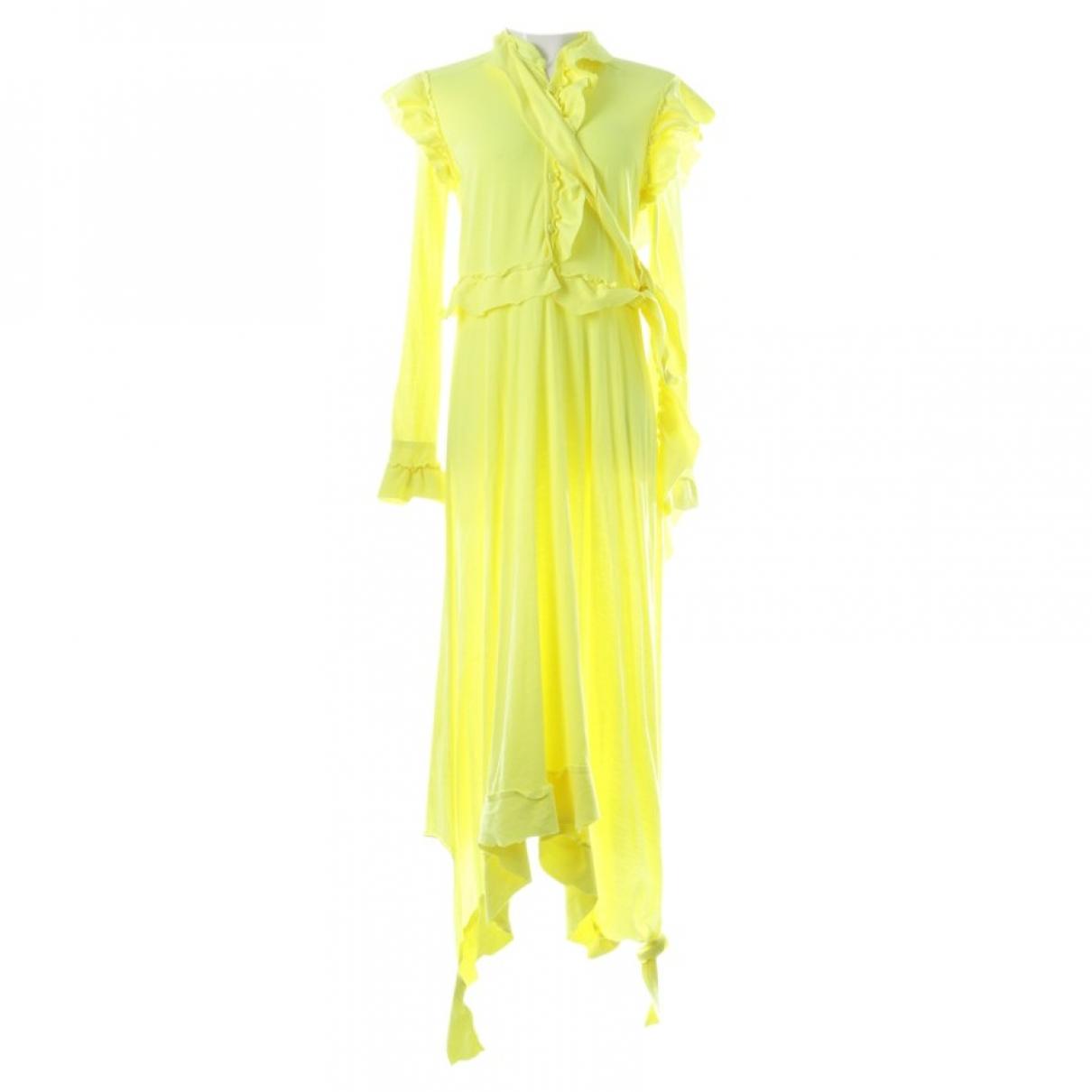Vetements \N Kleid in  Gelb Baumwolle