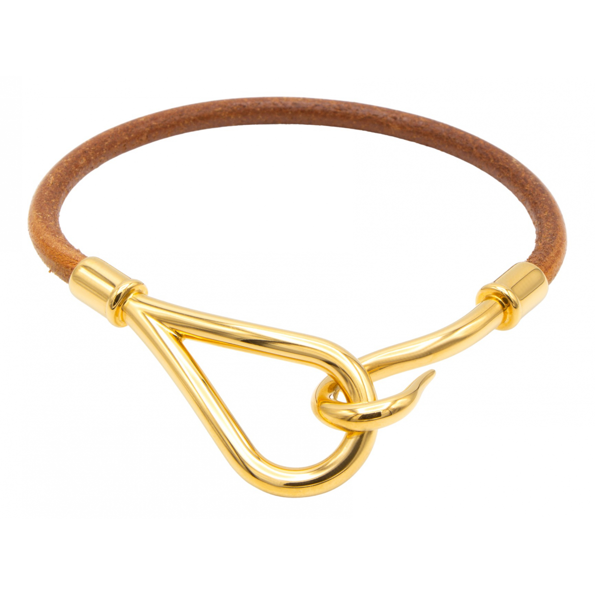 Hermes - Bracelet Jumbo pour femme en cuir - dore