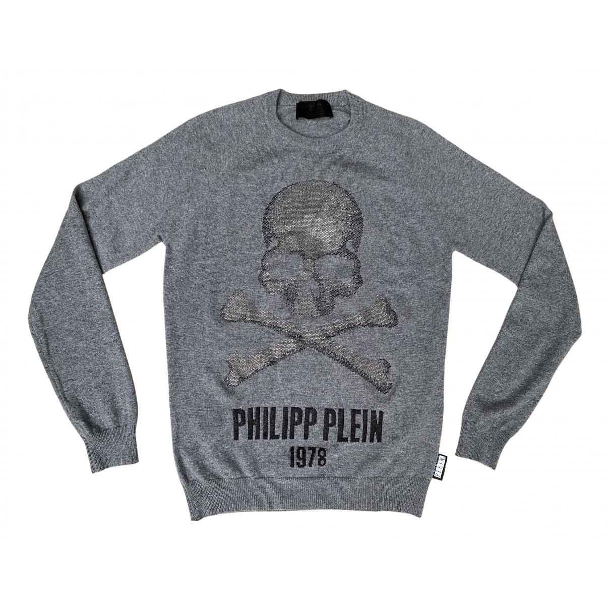 Philipp Plein \N Pullover.Westen.Sweatshirts  in  Grau Kaschmir