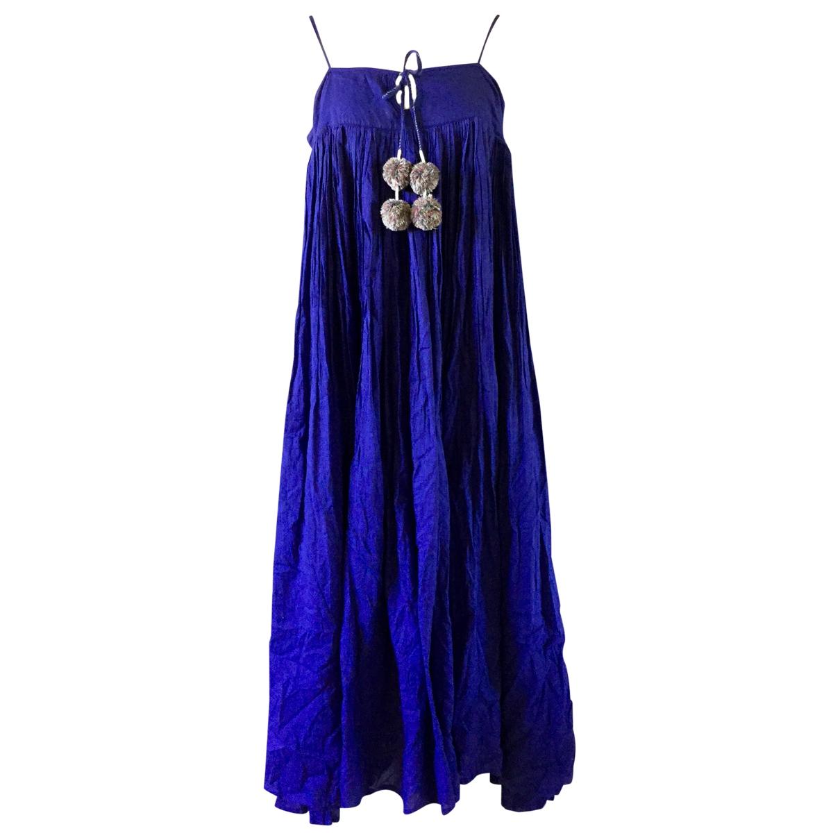 V De Vinster \N Kleid in  Blau Baumwolle