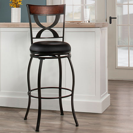 Hillsdale House Swivel Bar Stool, One Size , Black