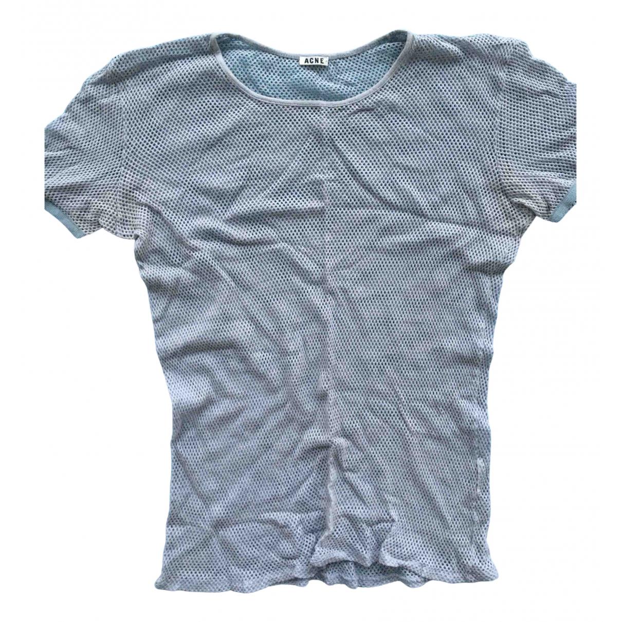 Acne Studios - Top   pour femme en coton - bleu