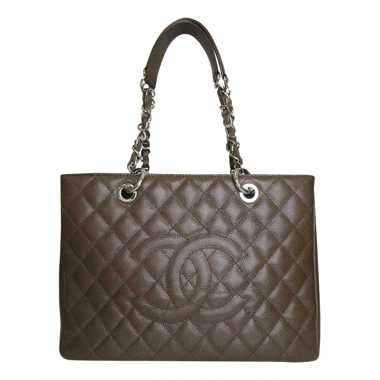 Chanel Grand shopping Handtasche in  Braun Leder