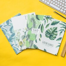 1pc Leaf Print Random Notebook
