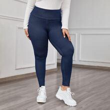 Leggings de cintura ancha