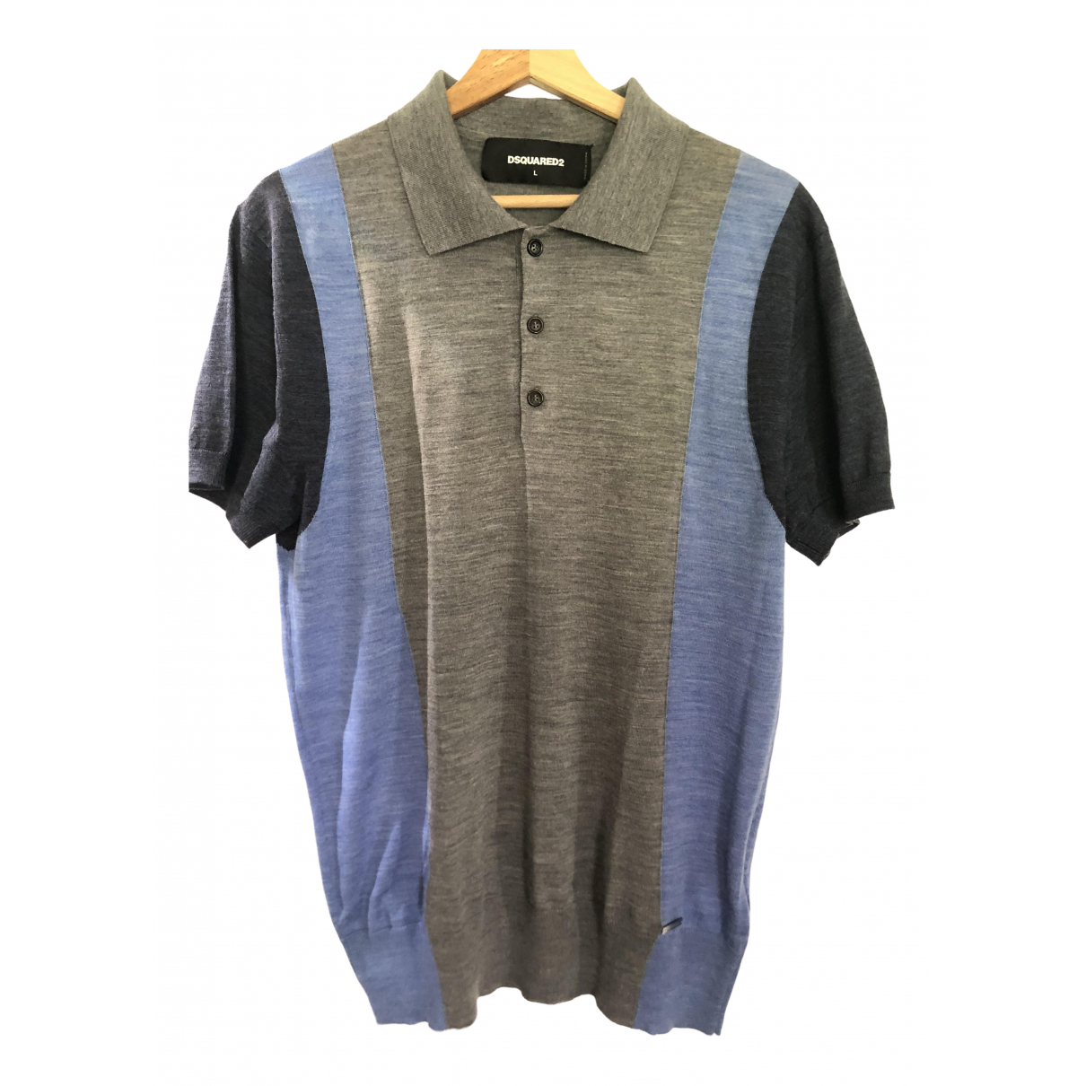 Dsquared2 - Polos   pour homme en coton - gris