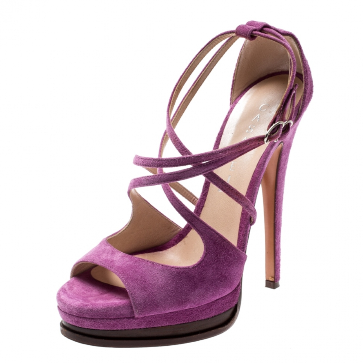 Casadei - Sandales   pour femme en suede - violet