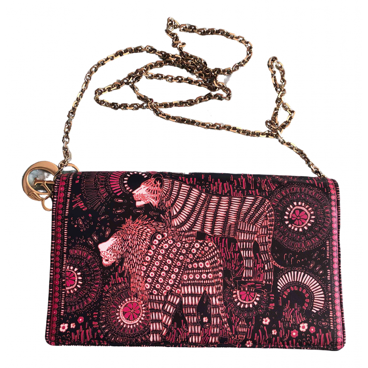 Dior \N Clutch in  Bunt Leder