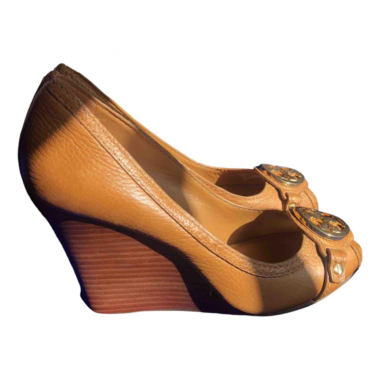 Tory Burch - Sandales   pour femme en cuir - marron