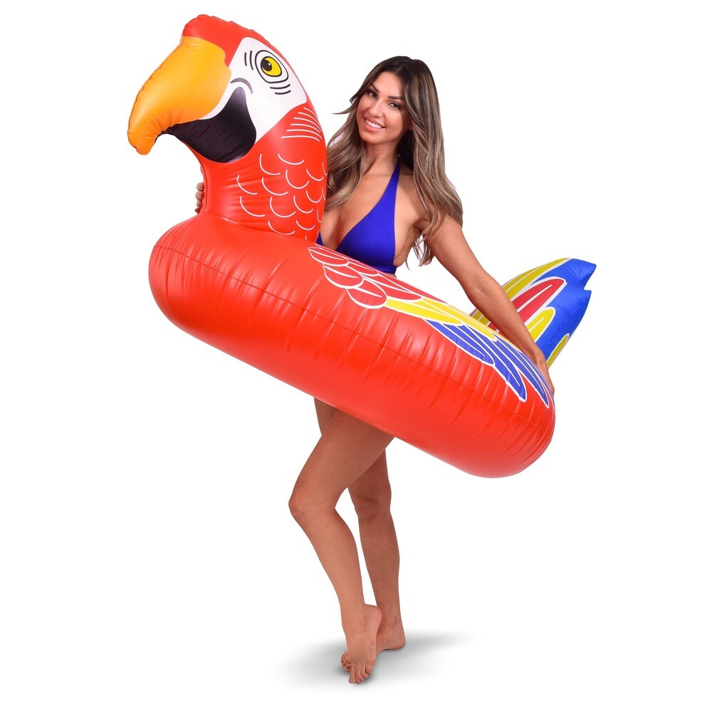 GoFloats Tropical Parrot Party Tube Inflatable Raft (PT-PARROT-01)