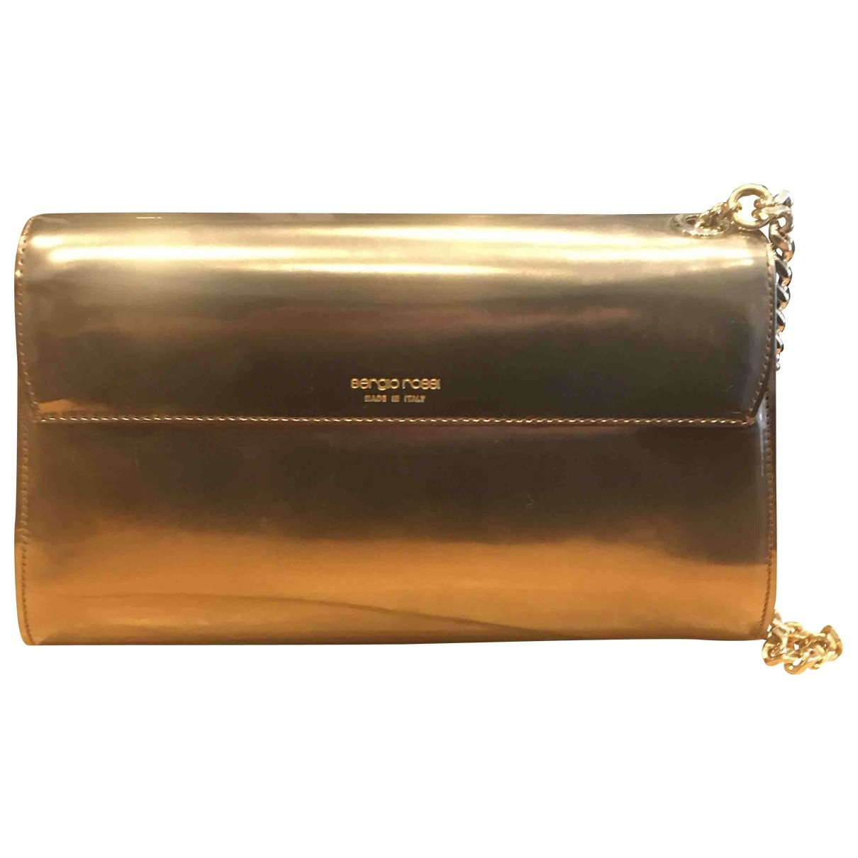 Sergio Rossi \N Clutch in  Gold Leder