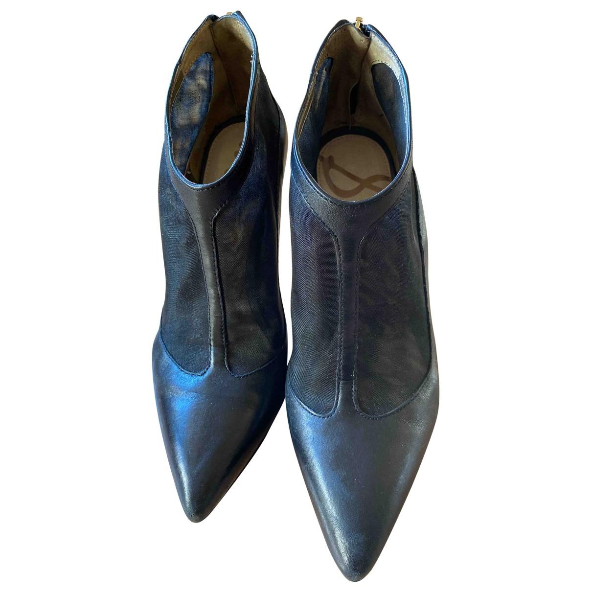 Sam Edelman - Boots   pour femme en cuir - noir