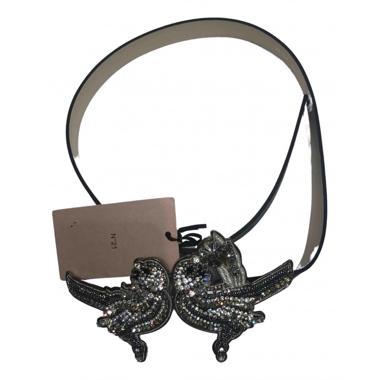 N°21 N Black Leather belt for Women 70 cm