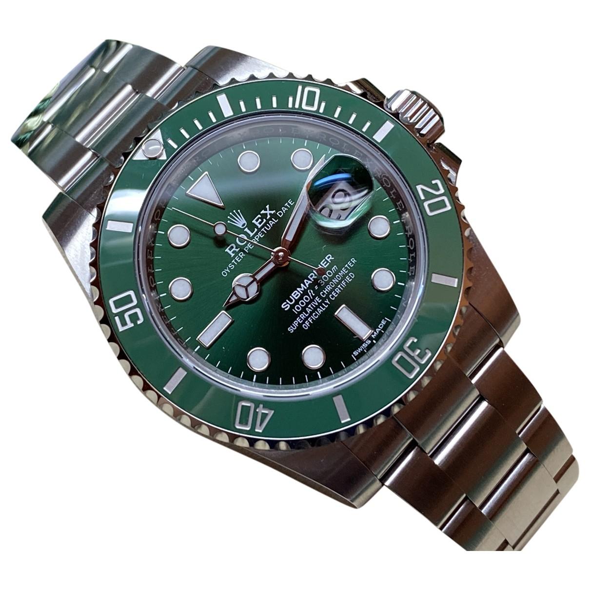 Rolex - Montre Submariner pour homme en acier - vert