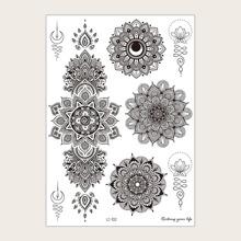 1 Blatt Tattoo Aufkleber mit Mandala Muster