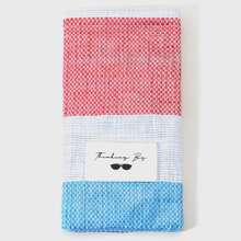 Bolso para gafas con diseño de bloques de color para hombre