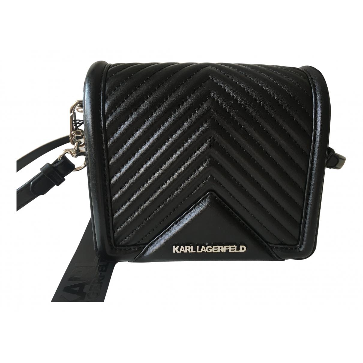 Karl Lagerfeld N Black Leather handbag for Women N
