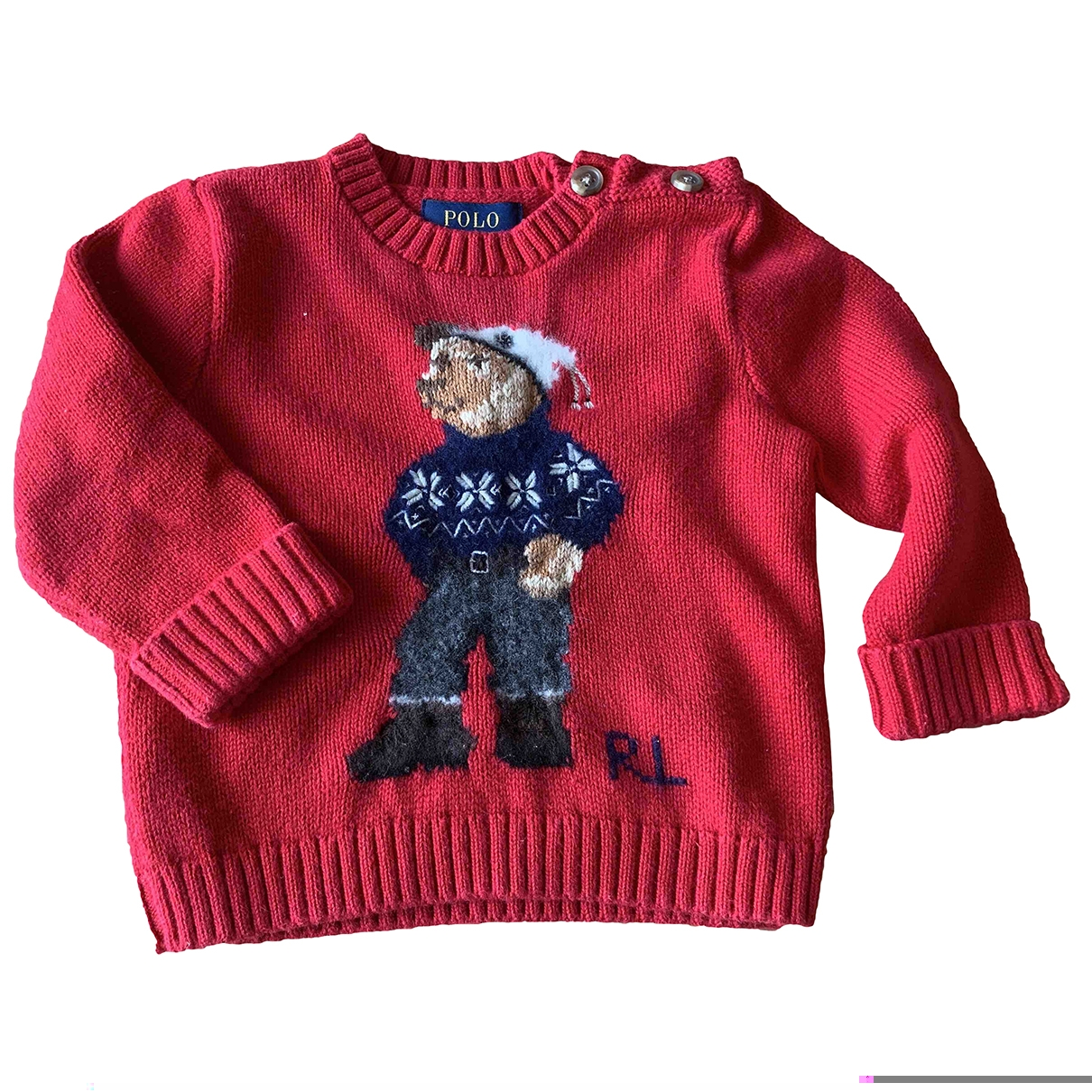 Polo Ralph Lauren \N Red Cotton Knitwear for Kids 9 months - up to 71cm FR