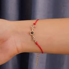 Armband mit Hirsch Dekor und Schnur