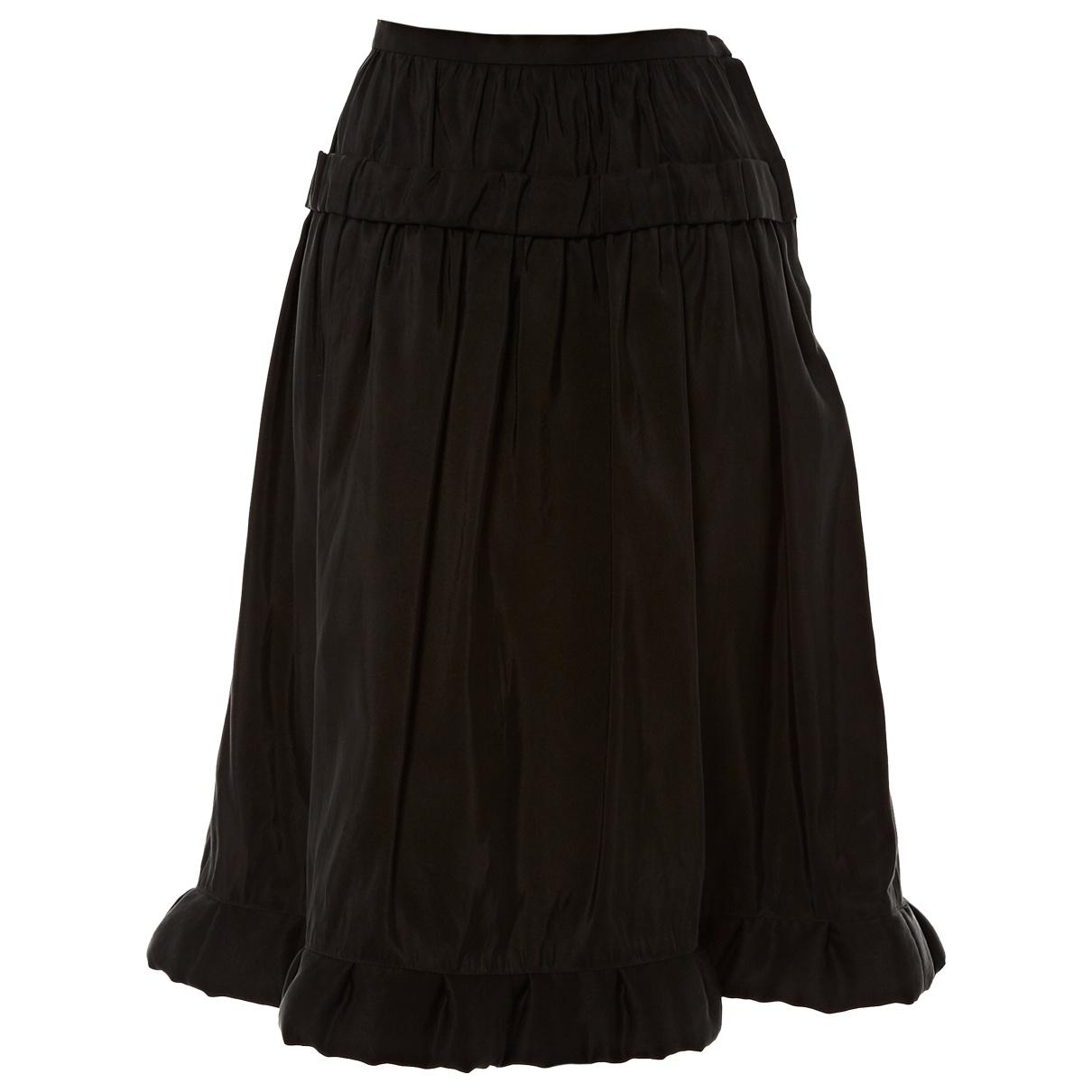 Lanvin \N Black Silk skirt for Women 40 FR