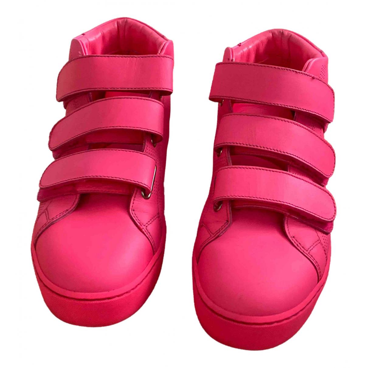 Burberry - Baskets   pour femme en cuir - rose