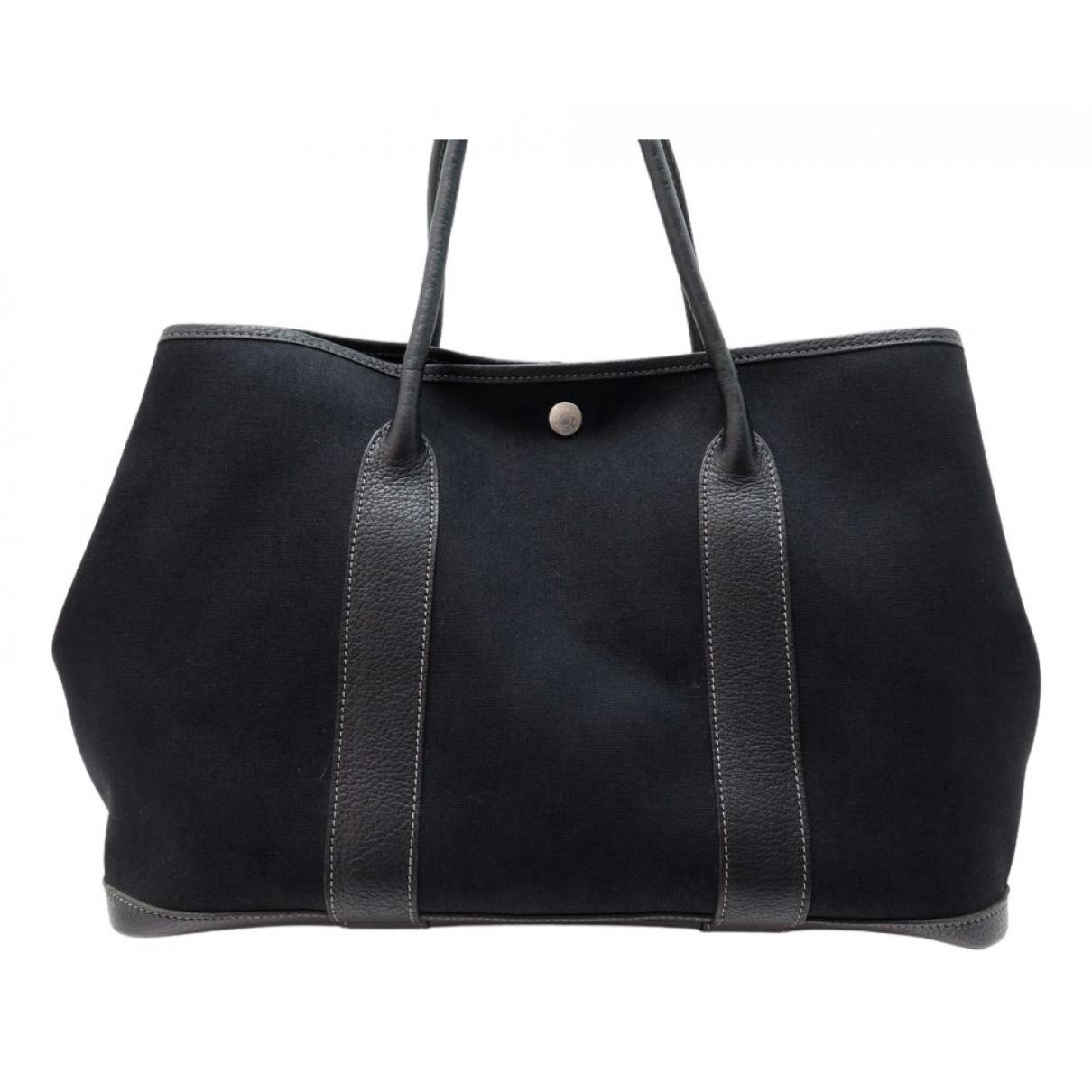 Hermès Garden Party Black Cloth handbag for Women N