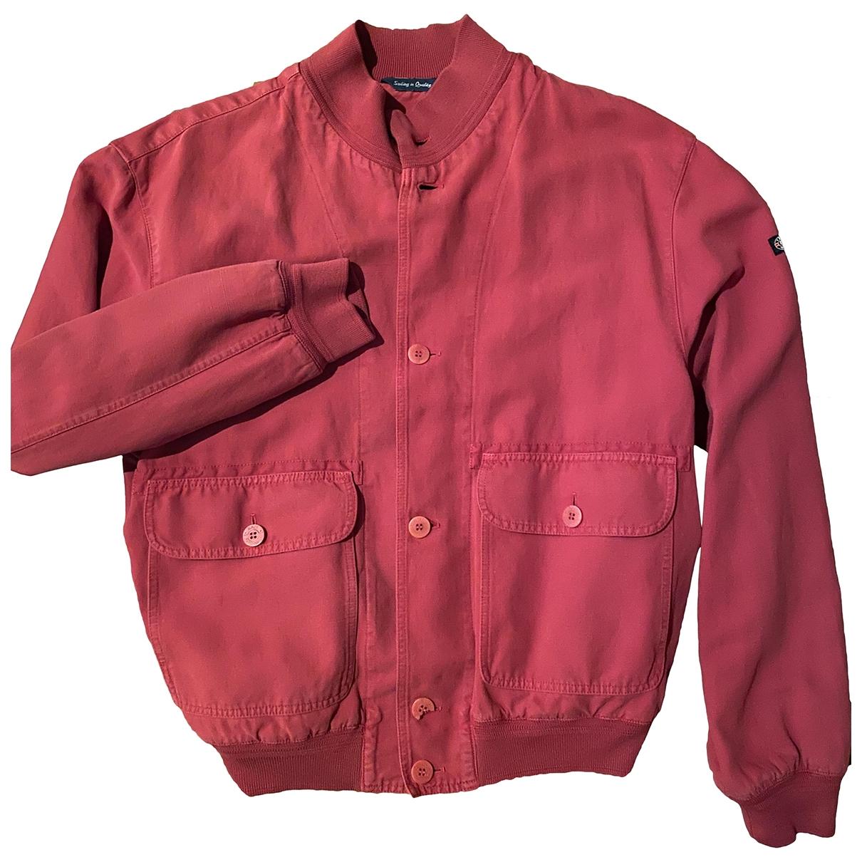 - Vestes.Blousons   pour homme en coton - rouge