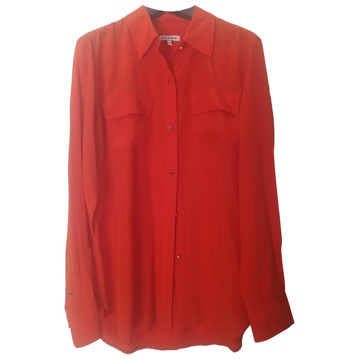 Juicy Couture - Top   pour femme en soie - orange