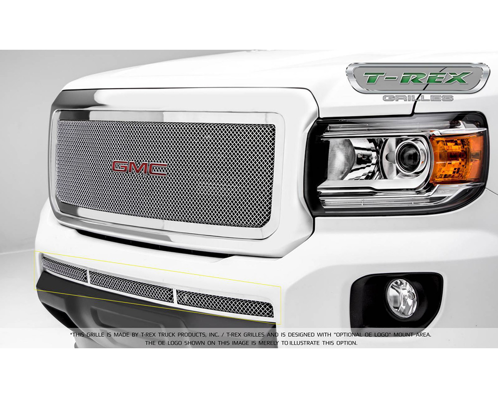2015-2019 GMC Canyon Upper Class Bumper Grille, Polished, 1 Pc, Insert - PN #55371