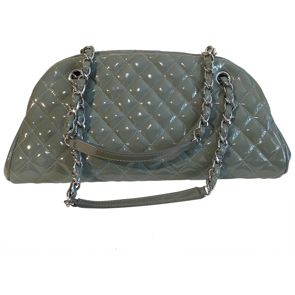 Chanel Mademoiselle Green Patent leather handbag for Women \N