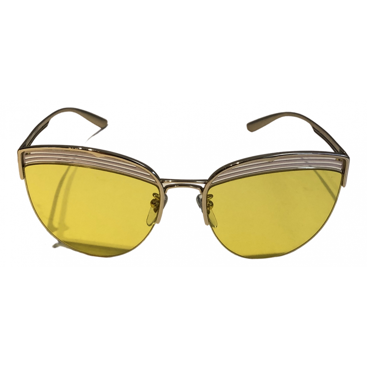 Bvlgari - Lunettes   pour femme en metal - jaune